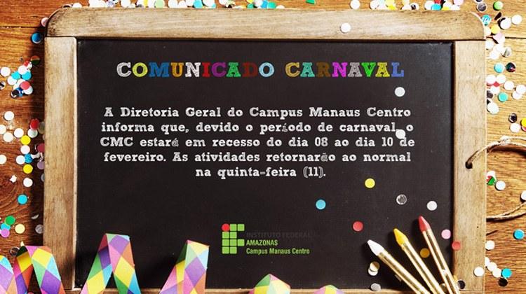 Comunicado Carnaval