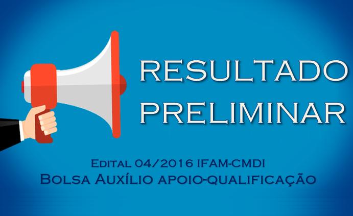 CMDI divulga resultado preliminar do edital de bolsa auxílio apoio-qualificação