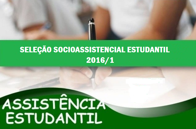 Edital do Programa Socioassistencial Estudantil IFAM/CMDI 2016/1