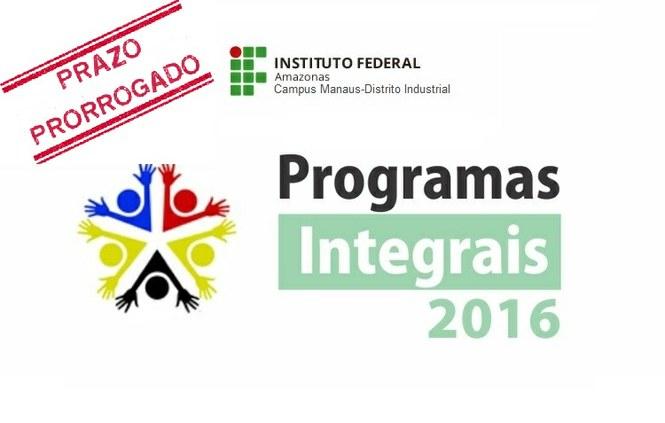 Inscrições prorrogadas: Programas Integrais