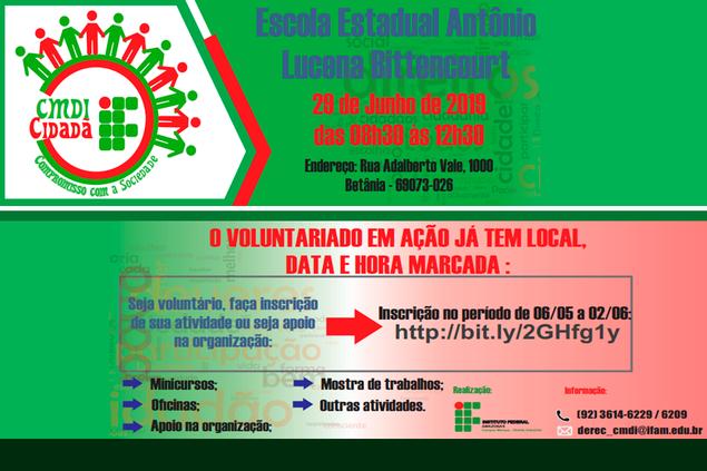 Chamada para Ação Social: CMDI Cidadã 2019