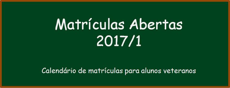 Calendário de Matrícula