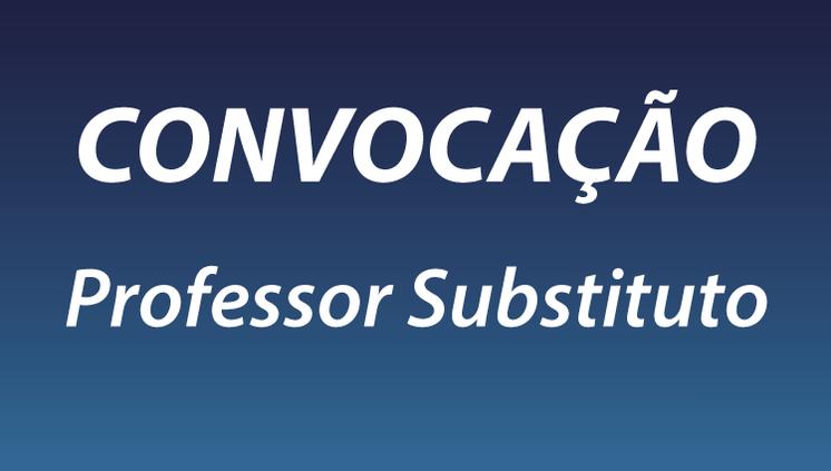 Convocação do PSS Professor Substituto - CMDI