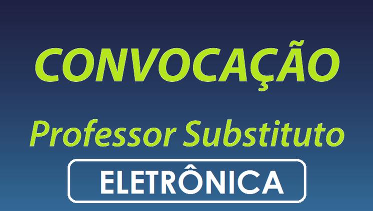 Convocação do PSS Professor Substituto