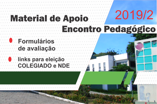 Material de Apoio ao encontro Pedagógico 2019/2