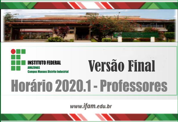 Versão Final - horários de aulas 2020.1
