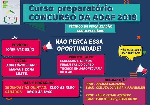 CMZL promove Curso Preparatório para Concurso da ADAF 2018