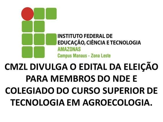 Edital da Eleição para Membros do NDE e Colegiado do CSTA