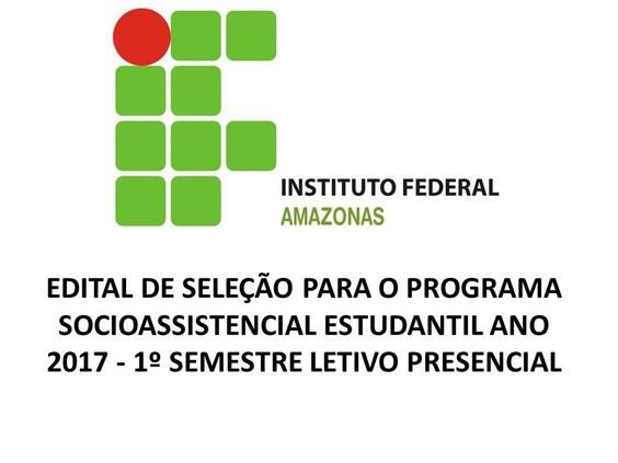 EDITAL de Seleção do Programa Socioassistencial 2017