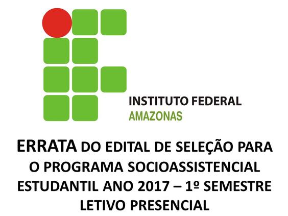 ERRATA do Edital de Seleção Socioassistencial 2017