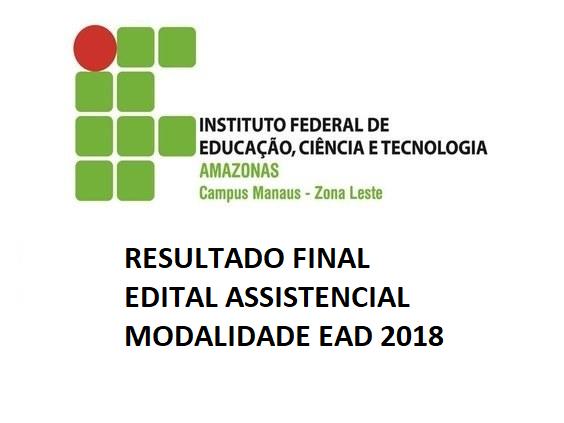 Resultado Final - Edital Assistencial - Modalidade EAD 2018