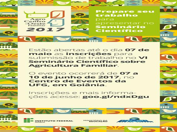 Seminário Científico - Agricultura Familiar IF Goiano