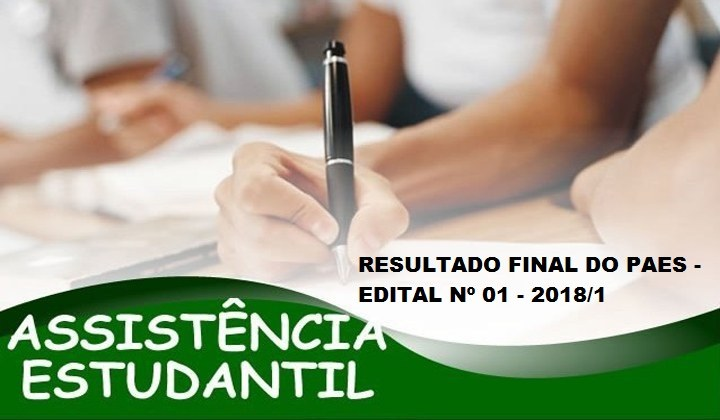 Resultado Final do PAES 2018