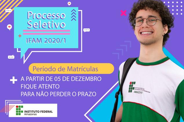 Comunicado - Procedimentos de Matrículas Período Letivo 2020.2