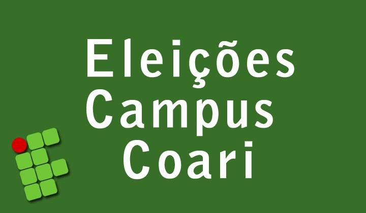 Eleições Campus Coari - Lista definitiva de candidatos