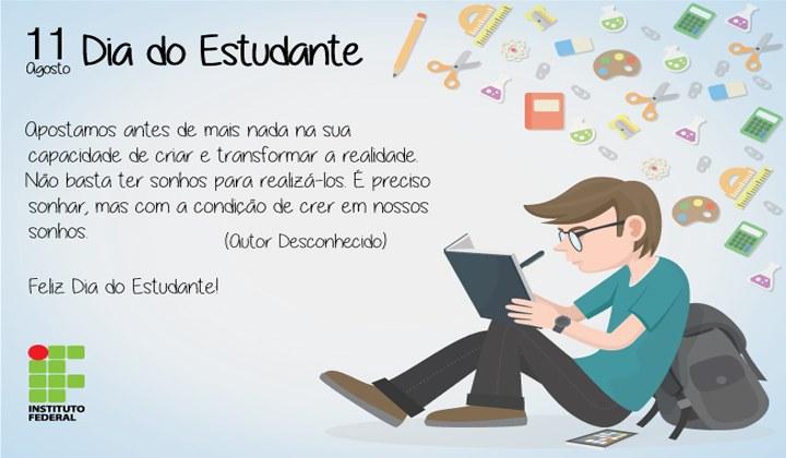 Feliz Dia do Estudante