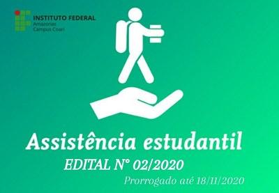 PROCESSO DE SELEÇÃO PARA A CONCESSÃO DE BENEFÍCIO DO PROGRAMA SOCIOASSISTENCIAL ESTUDANTIL ANO LETIVO DE 2020