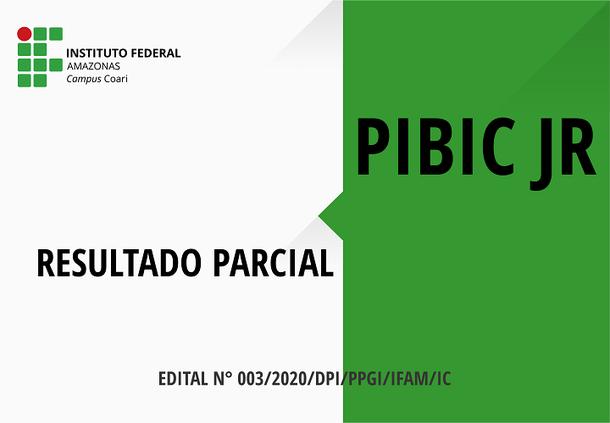 Resultado Parcial - PIBIC JR 2020