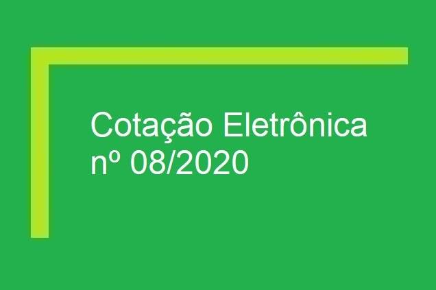 Cotação Eletrônica nº 08/2020