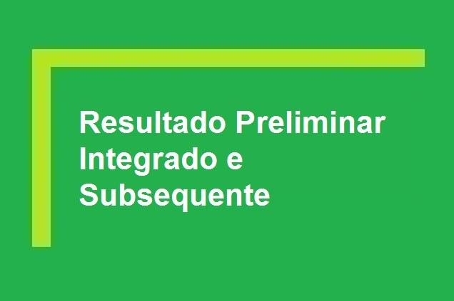Resultado Preliminar - Processo Seletivo 2021