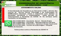 Coordenação de Assistência ao Educando (CAE) online