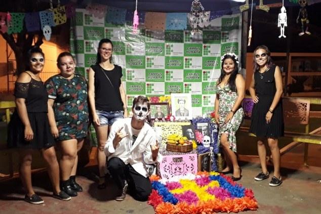 Exposição da Fiesta de Los Muertos