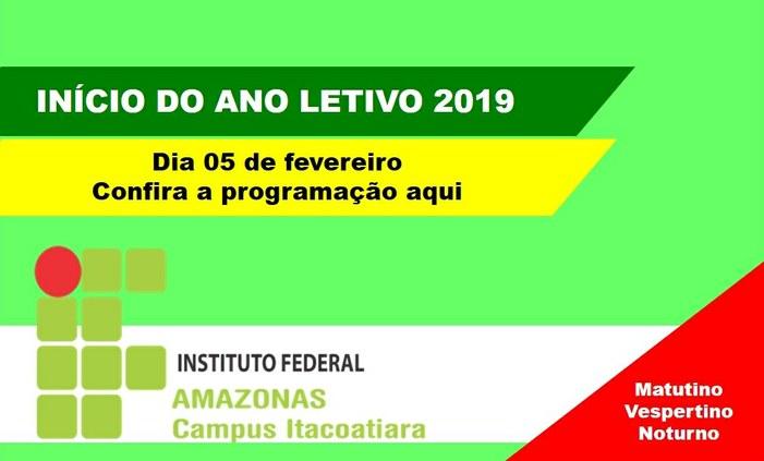 Início do ano letivo 2019 do IFAM Campus Itacoatiara