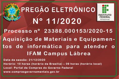 Data da sessão: 21/12/2020; 10 horas (horário de Brasília) – 09 horas (horário local); Portal de Compras do Governo Federal – www.comprasgovernamentais.gov.br