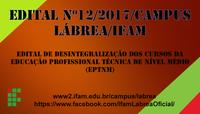 EDITAL nº 12/2017/CAMPUS LÁBREA/IFAM
