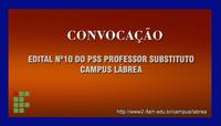 IFAM Campus Lábrea Convoca Candidato Aprovado PSS edital nº 10.