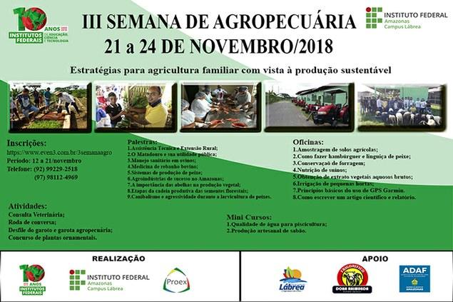 III Semana de Agropecuária do IFAM Campus Lábrea