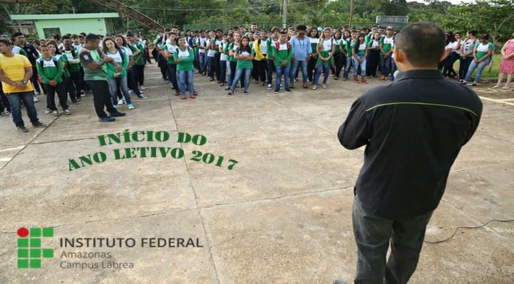 INÍCIO DAS AULAS NO IFAM CAMPUS LÁBREA 2017
