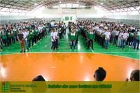 A cerimônia da volta às aulas, foi nesta quarta-feira no ginásio poliesportivo do IFAM Campus Lábrea.
