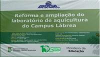 REFORMA E AMPLIAÇÃO DO LABORATÓRIO DE AQUICULTURA