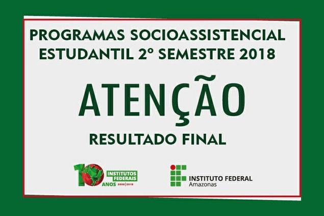 Resultado final PAES segundo semestre 2018