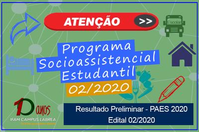 IFAM Campus Lábrea divulga resultado preliminar do PAES 2020, deferidos e indeferidos referente ao edital 02/2020.