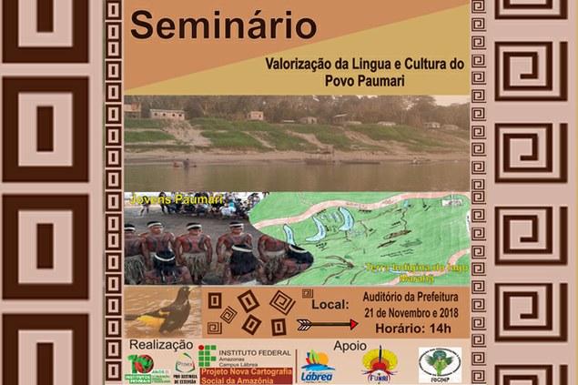 Seminário: Valorização da língua e cultura do Povo Paumari