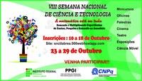 VIII SEMANA DE CIÊNCIA E TECNOLOGIA DO IFAM CAMPUS LÁBREA