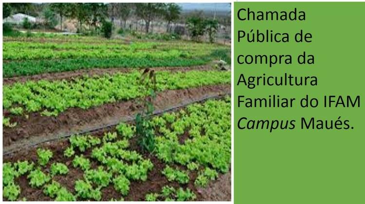 Aviso de Chamada Pública do Edital Nº. 01/2018 para aquisição de produtos da agricultura familiar