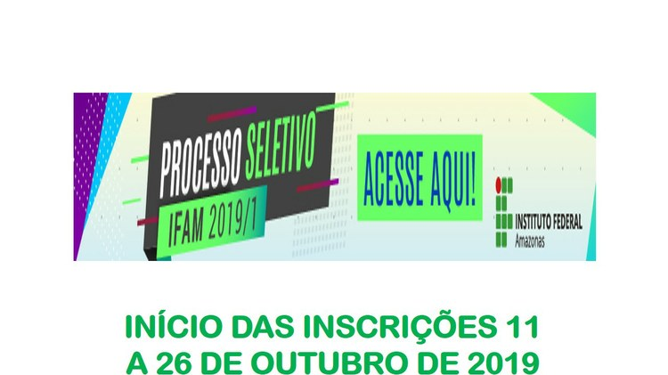 Processo Seletivo 2019/1 - Editais Publicados