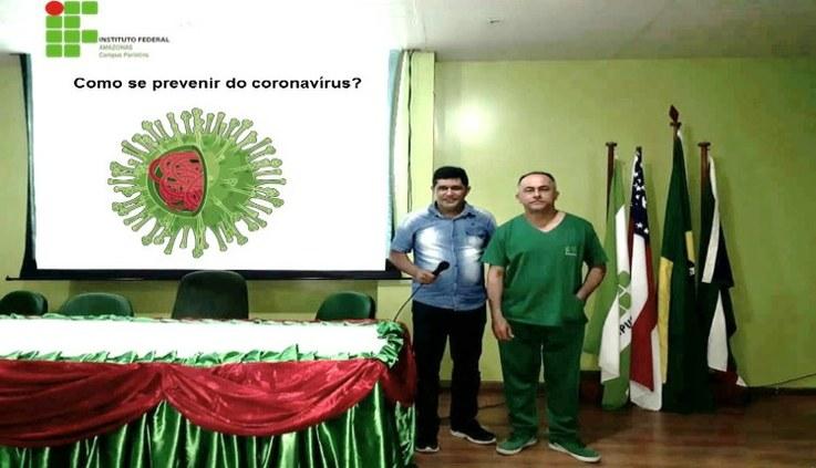 Alunos recebem orientações sobre o novo Coronavírus