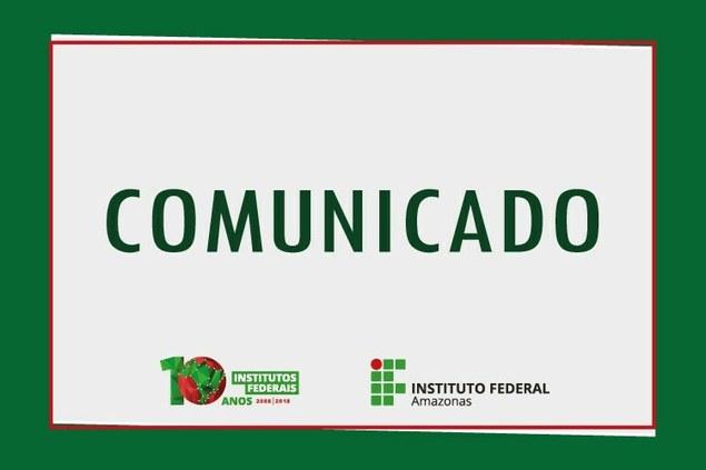 Aviso da Chamada Pública 1/2018 - UASG 158560