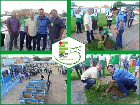 Campus Parintins distribui mudas em parceria com Boi-Bumbá Caprichoso