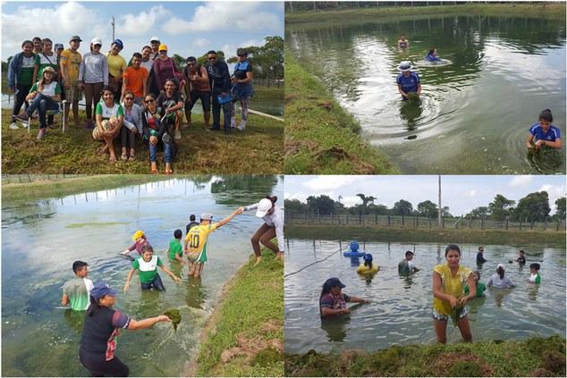 Estudantes do 1° Módulo do Curso Técnico em Recursos Pesqueiros participam de Visita técnica e aula prática em instalações aquícolas.