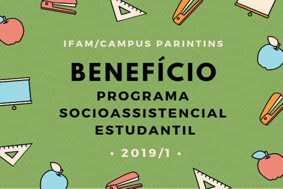 Inscrições abertas para o Programa Socioassistencial 2019/1