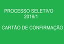 Processo Seletivo 2016/1