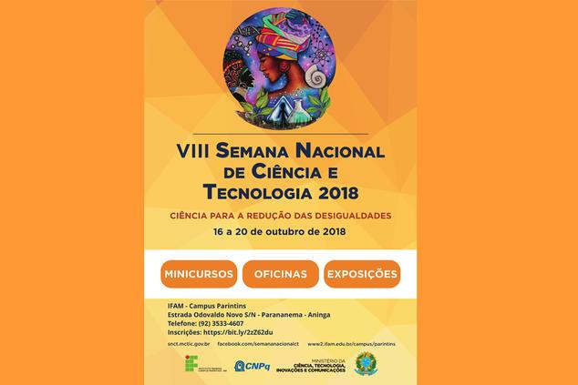 VIII SNCT do IFAM Parintins: Ciência para a redução das desigualdades