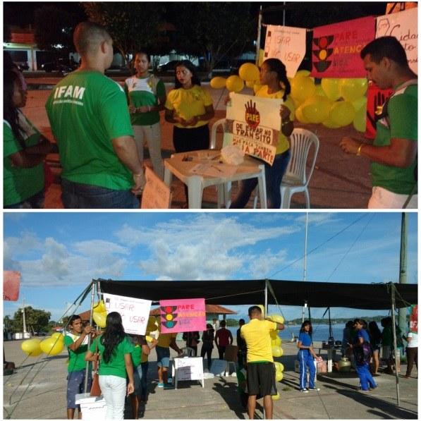 Blitz Educativa (Alusão à campanha maio amarelo), maio 2017.