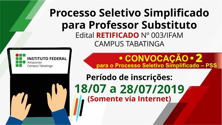 IFAM Tabatinga abre Processo Seletivo para Contratação de Professor Substituto