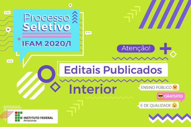 PROCESSO SELETIVO 2020/1